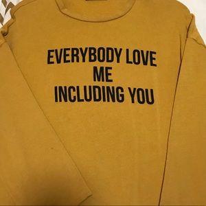 ZARA Mustard Sweater Dress